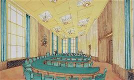 Unrealised design for the Council Room, c1933