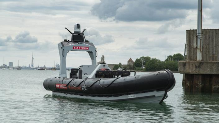 The autonomous BAE Systems Pacific 24 Rigid Inflatable Boat (Credit: BAE Systems)