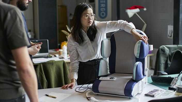 The Aergo posture support system would not have been possible 10 years ago, says creator Sheana Yu