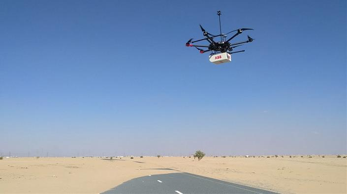 An ABB drone on the hunt for methane (Credit: ABB)