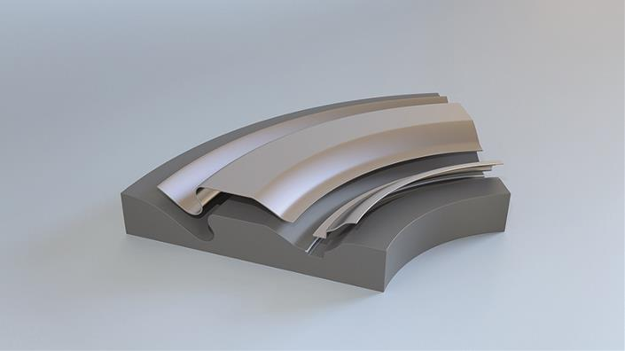 Quintus uses rubber to bend metal, a process that is particularly suited for complex shapes (Credit: Quintus Technologies)