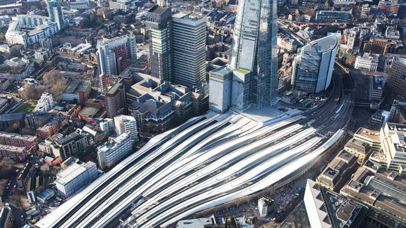 The Shard Towers over the redeveloped London Bridge train station (Credit: Network Rail)