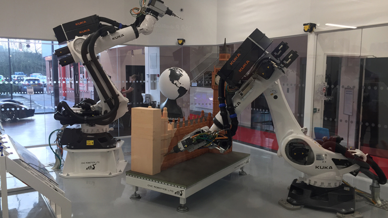 Robotic arms will help bring ideas to life (Credit: Joseph Flaig)