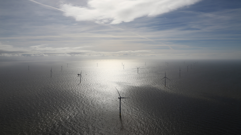 The Burbo Bank Extension offshore wind farm (Credit: Dong Energy)