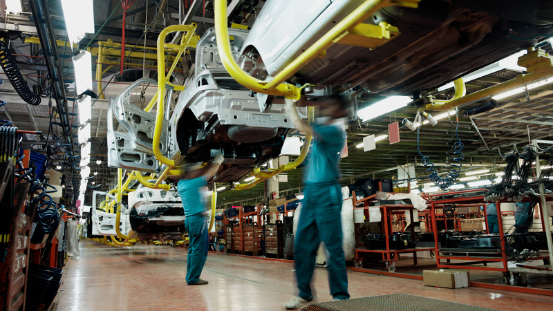 UK car manufacturing continues to boomImage