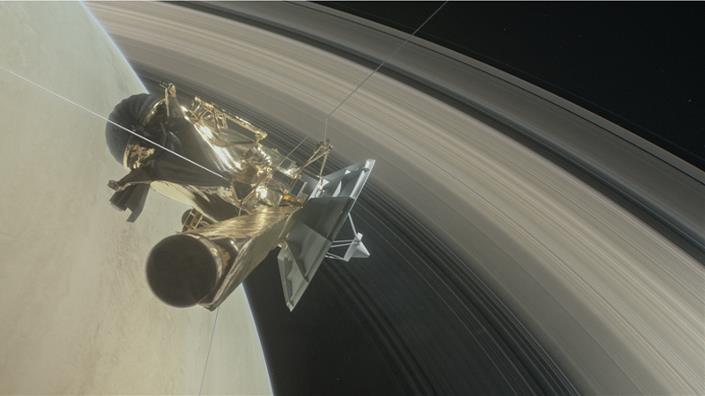 (Artist's impression of Cassini near Saturn. Credit: Nasa)