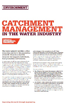Catchment Management in the Water Industry