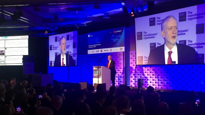 Labour leader Jeremy Corbyn speaks at the EEF conference