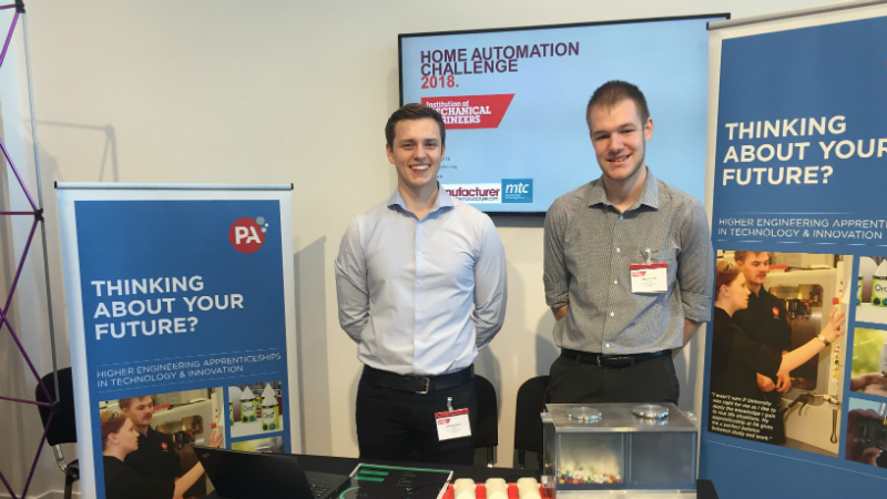 Oliver De Roeck and Callum Franks from PA Consulting's Top Cat team
