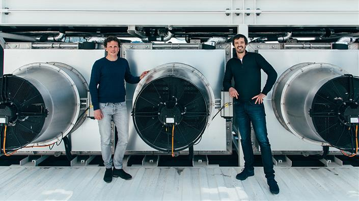 Founders Christoph Gebald and Jan Wurzbacher hope Climeworks could help limit global warming (Credit: Climeworks/ Julia Dunlop)