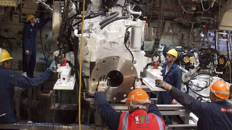 BAE Systems renews HMS Brocklesby's enginesImage