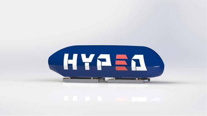 How the HypED Hyperloop pod could look (Credit: HypED)