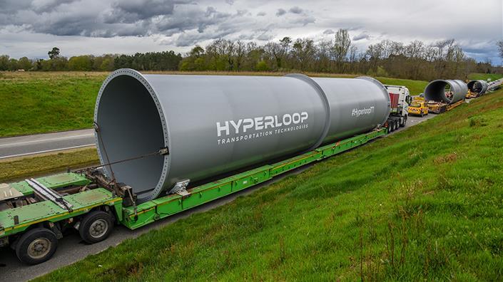 The tubes arrive in France (Credit: HyperloopTT)