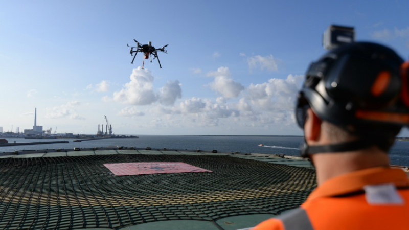 A Lidar-equipped Texo Drone carries out an inspection (Credit: Texo Drone)
