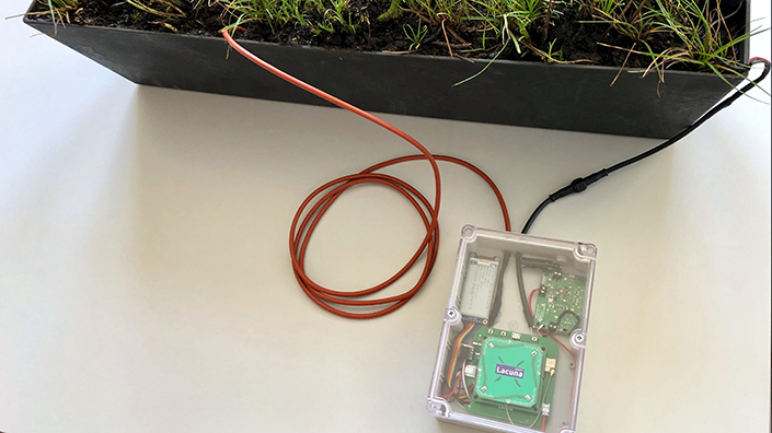 The plant-powered sensor could revolutionise low-power IoT networks (Credit: Lacuna Space)
