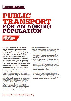 Public Transport for an Ageing Population