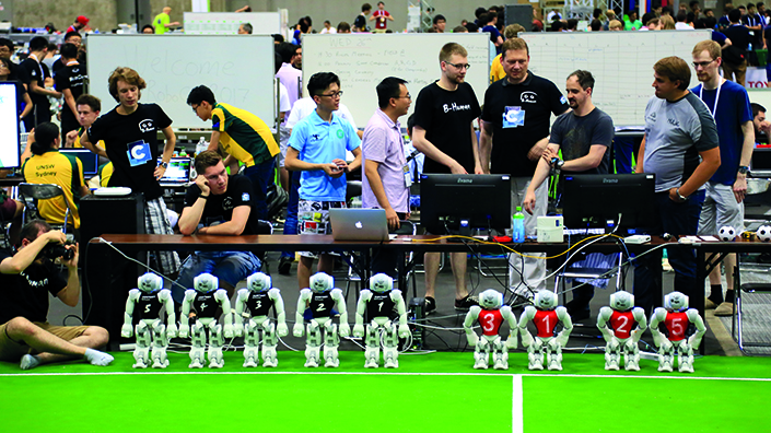 Teams line up at RoboCup 2017 (Credit: RoboCup)