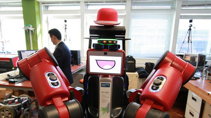 Imperial College London's Robot DE NIRO uses a Kinect Sensor to track human movement (Credit: Imperial College London)