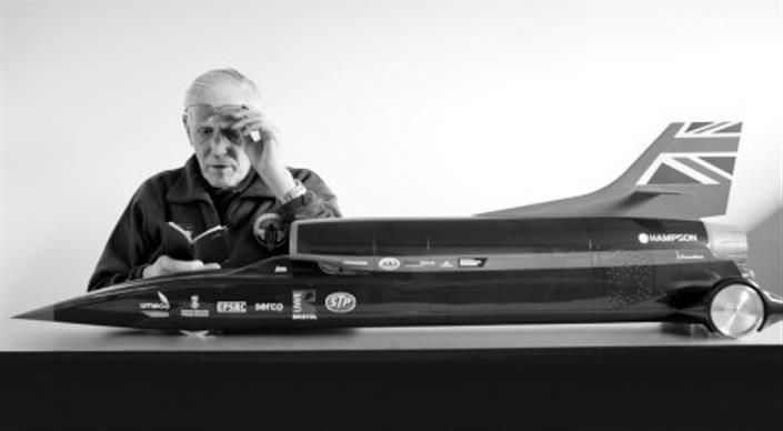 Ron Ayers MBE, the chief aerodynamicist of both Bloodhound and Thrust SSC