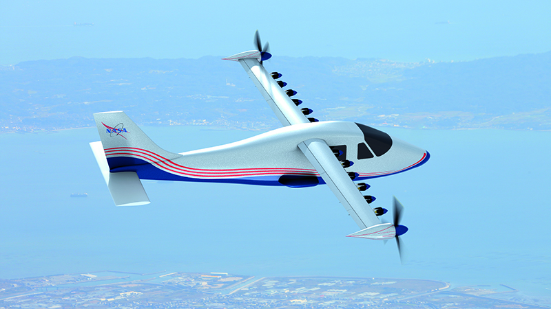 NASA hopes that aerodynamic efficiency will be the key to the success of its X-57 Maxwell all-electric light aircraft (Credit: NASA)