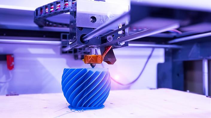 A 3D printer prints an object (Credit: Shutterstock)