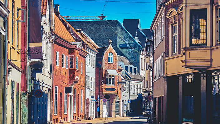 The old city in Odense, Denmark (Credit: Shutterstock)