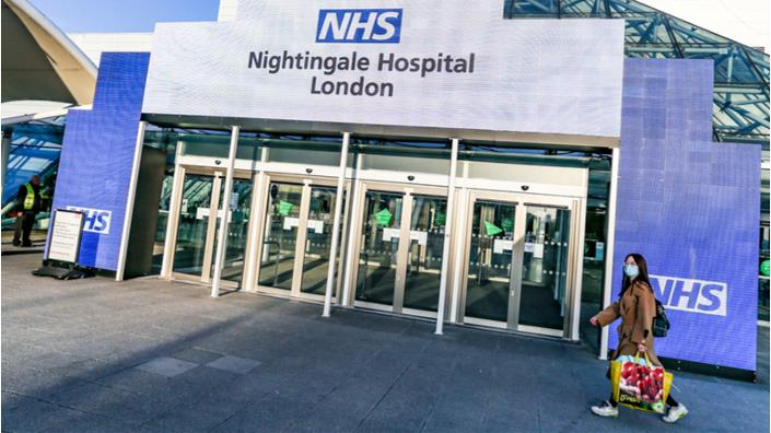 The new Nightingale field hospital at the Excel Centre in London (Credit: Shutterstock)