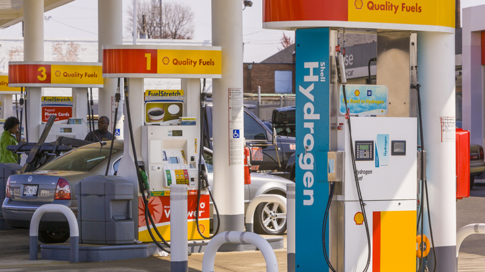 So far there are only about 12 commercial hydrogen refuelling stations in the UK – this one is in the US (Credit: Shutterstock)