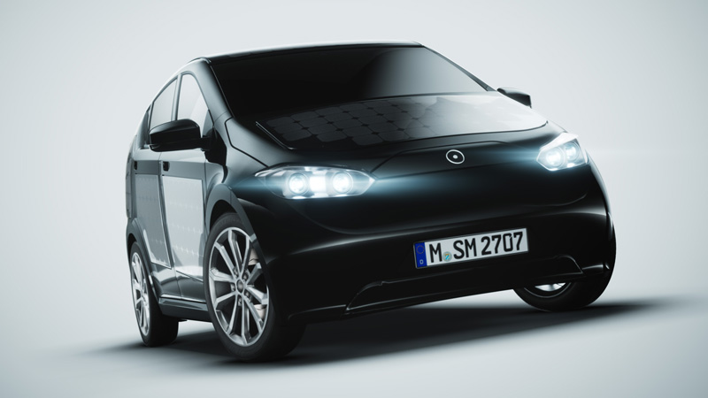 This Self Charging Electric Car Has Built In Solar Panels
