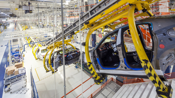 Maserati uses Siemens smart factory technology in the Ghibli production line (Credit: Siemens)