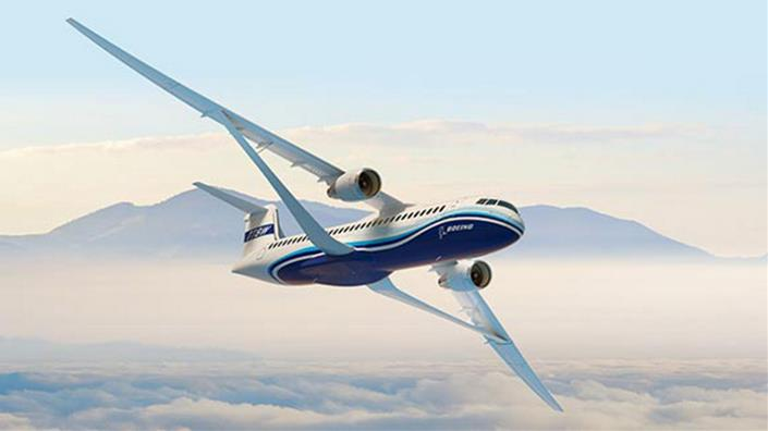 Boeing's Transonic Truss-Braced Wing concept (Credit: Boeing Creative Services)
