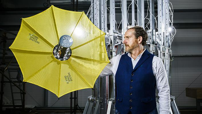 Oxford Space Systems CEO Mike Lawton says his company has been 'building pickaxes for the space gold rush' – but it could be about to strike gold itself (Credit: OSS)