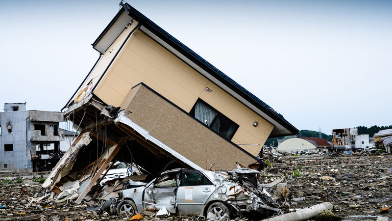 Devastation left after the 2011 Japan tsunami (Credit: iStock)