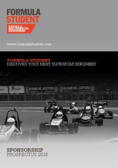 Formula Student engineering sponsorship opportunities - IMechE