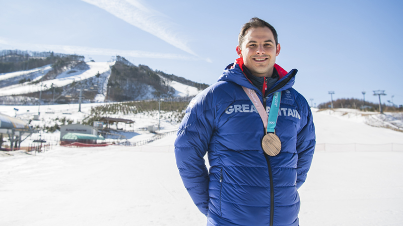 Dom Parsons, 2018 PyeongChang Winter Olympics Bronze medalist