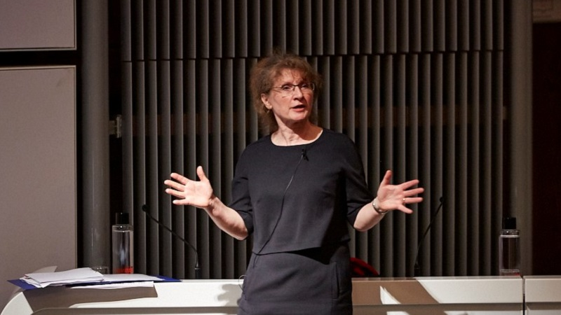 New IMechE president Carolyn Griffiths talks at the institution's headquarters