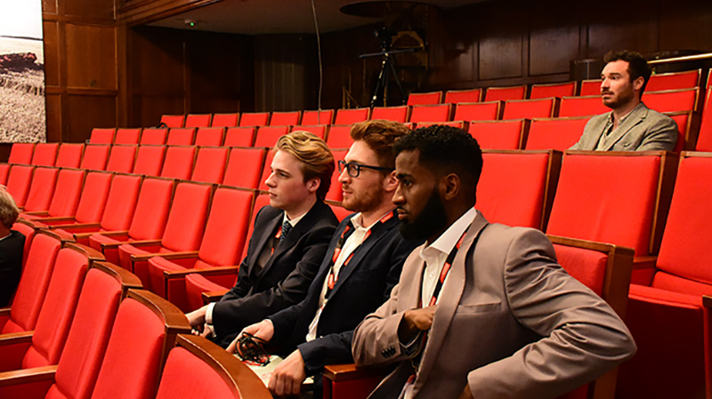 Brunel University team paying close attention to the first years competition