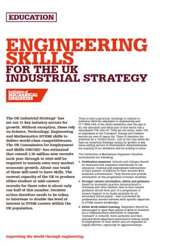 Engineering Skills for the UK Industrial Strategy thumb