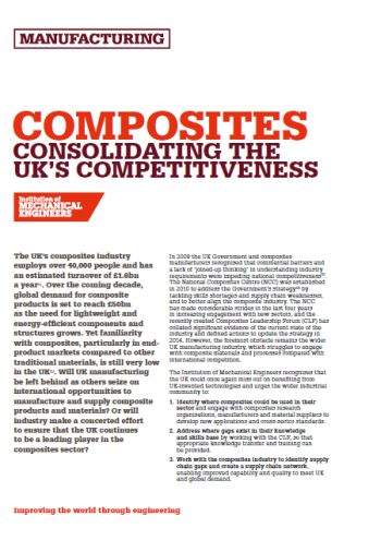 Composites - Consolidating the UK's Competitiveness thumb