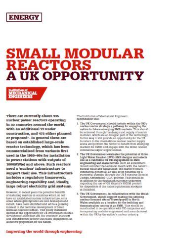 Small Modular Reactors - A UK Opportunity thumb
