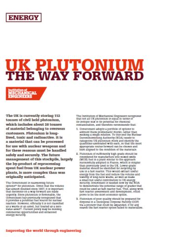 UK Plutonium - The Way Forward thumb