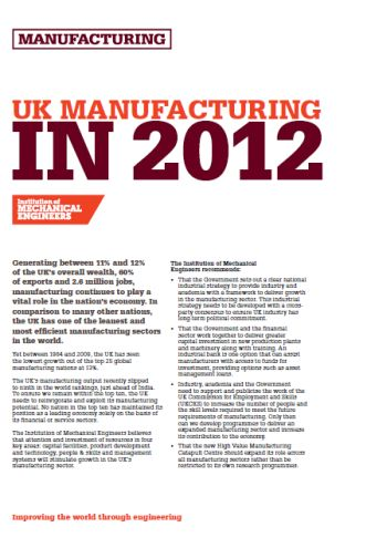 UK Manufacturing in 2012 thumb