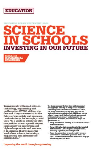 Science in Schools - Investing in Our Future thumb