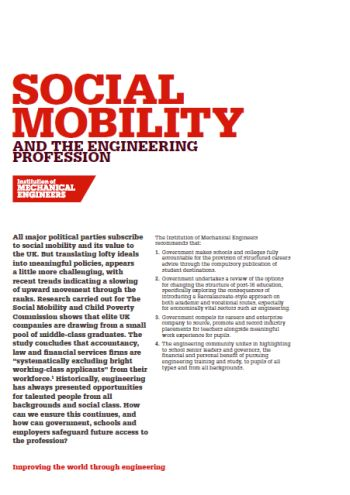 Social Mobility and the Engineering Profession thumb