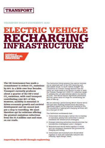 Electric Vehicle Recharging Infrastructure thumb