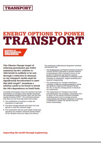 Energy Options to Power Transport thumb