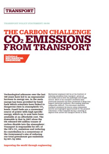 The Carbon Challenge - CO2 Emissions from Transport thumb