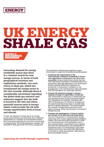 UK Energy - Shale Gas thumb