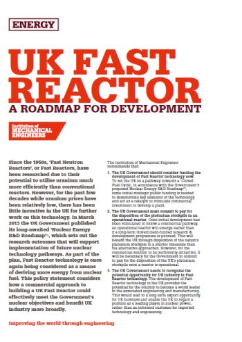 UK Fast Reactor - A Roadmap for Development thumb