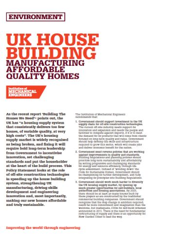 UK House Building - Manufacturing Affordable Quality Homes thumb